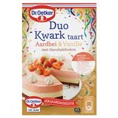 Dr. Oetker duo kwarktaart aardbei & vanille voorkant