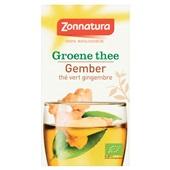 Zonnatura groene thee gember voorkant