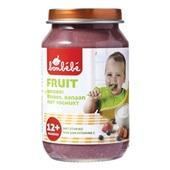 Bonbébé Baby/peuter fruithapje Aardbei Bosbes Banaan met yoghurt voorkant