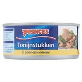 Princes tonijnstukken in olie achterkant
