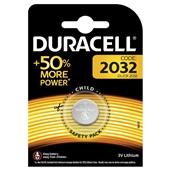 Duracell lithium knoopcelbatterij CR2032 voorkant