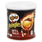 Pringles Chips Hot & Spicy achterkant