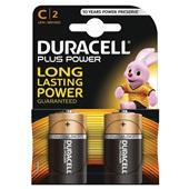 Duracell plus power batterij alkaline C voorkant