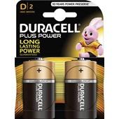 Duracell plus power batterij alkaline D voorkant