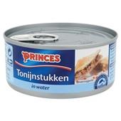 Princes tonijnstukken in water achterkant