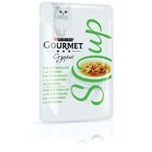 Gourmet crystal kattenvoer soep met kip en groenten voorkant