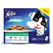 Felix elke dag feest fusion kattenvoer visselectie in smaakvolle saus voorkant