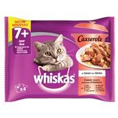 Whiskas senior casserole kattenvoer selectie van vlees en gevogelte in gelei voorkant