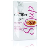 Gourmet crystal kattenvoer soep met tonijn en ansjovis voorkant