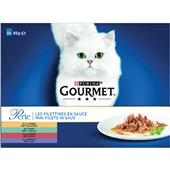 Gourmet perle kattenvoer mini filets in saus multipak voorkant