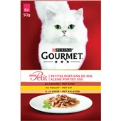 Gourmet mon petit kattenvoer met gevogelte multipak voorkant