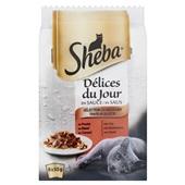 Sheba délice du jour kattenvoer vleesselectie in saus voorkant