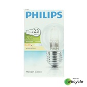 Philips Halogen Classic halogeenlamp kogel E27/18W (23W) voorkant