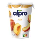 Alpro yoghurtvariatie perzik voorkant