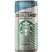 Starbucks doubleshot espresso & milk  zonder suiker voorkant