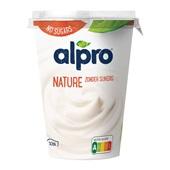 Alpro yoghurtvariatie naturel ongezoet voorkant