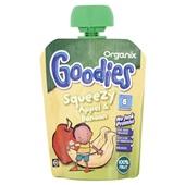 Organix goodies fruithapje squeezy appel en banaan voorkant