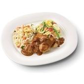 Culivers (27) kip in satésaus met sajour lodeh en nasi goreng voorkant
