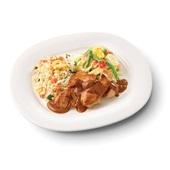 Culivers (83) kip met satésaus, sajour lodeh en nasi goreng  zoutarm voorkant