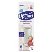 Optimel drinkyoghurt aardbei voorkant