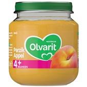 Olvarit baby/peuter fruithapje perzik en appel voorkant