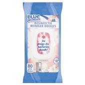 Blue Wonder desinfectie reiniger doekjes voorkant