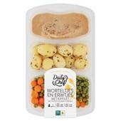 Daily Chef worteltjes en erwtjes met kipfilet en krieltjes voorkant