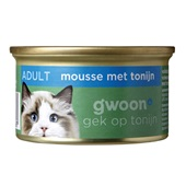 Gwoon kattenvoer fijne mousse met tonijn voorkant