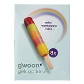 Gwoon mini regenboog ijsjes voorkant