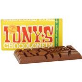 Tony's chocolonely Chocoladereep Melk noga achterkant