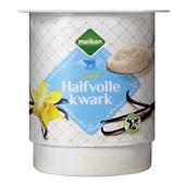 Melkan halfvolle kwark vanille voorkant