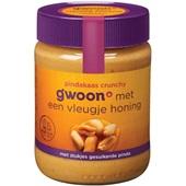 Gwoon pindakaas crunchy honing voorkant