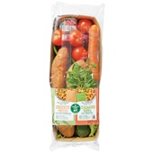 Spar maaltijdpakket  groente frites & Italiaanse pasta  voorkant