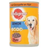 Pedigree Hondenvoer Senior Paté Met Gevogelte voorkant