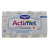 Actimel Drinkyoghurt Naturel 8X100 Gram voorkant