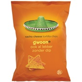 Gwoon tortilla chips nacho cheese voorkant