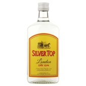 Bols silver dry top gin voorkant
