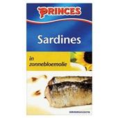 Princes sardines in zonnebloemolie voorkant