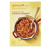 Gwoon mix voor macaroni/spaghetti voorkant
