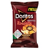 Doritos roulette chips nacho cheese - tabasco voorkant