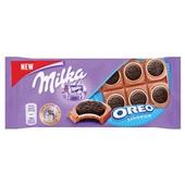 Milka chocolade tablet oreo sandwich voorkant