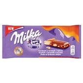 Milka chocolade tablet peanut caramel voorkant