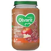 Olvarit baby/peuter maaltijd bruine bonen appel rundvlees en rijst voorkant