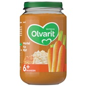 Olvarit baby/peuter maaltijd wortel kip en rijst voorkant