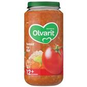 Olvarit baby/peuter maaltijd tomaat kip en rijst voorkant