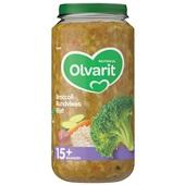 Olvarit baby/peuter maaltijd broccoli, rundvlees en rijst voorkant