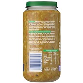 Olvarit baby/peuter maaltijd broccoli, rundvlees en rijst achterkant