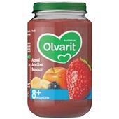 Olvarit baby/peuter fruithapje appel, aardbei en banaan voorkant