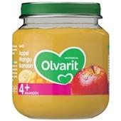 Olvarit baby/peuter fruithapje appel, mango en banaan voorkant