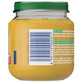 Olvarit baby/peuter fruithapje appel, mango en banaan achterkant